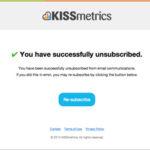 KISSmetrics: отписка от рассылки