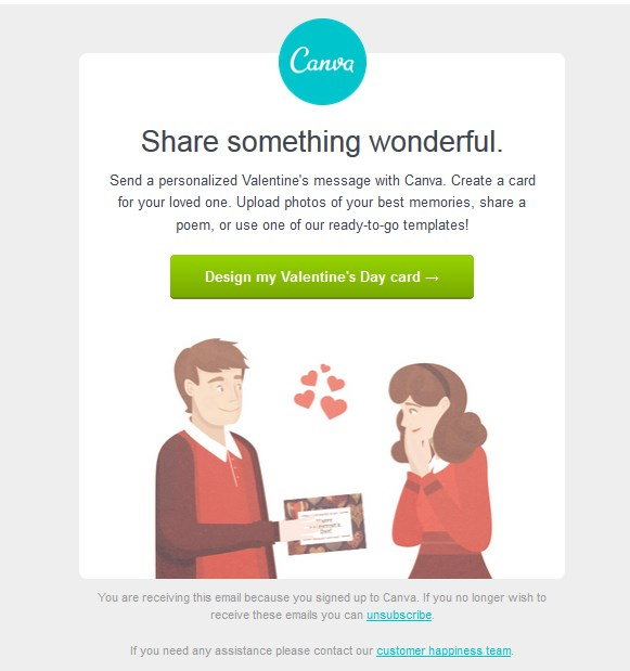 Canva: Card ideas for Valentine's Day ♥