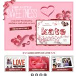 Smilebox: Valentine's Day Email- Love the paper elements.